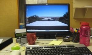água no escritório