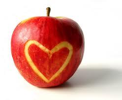 maçã coração