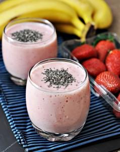 Vitamina de frutas com chia