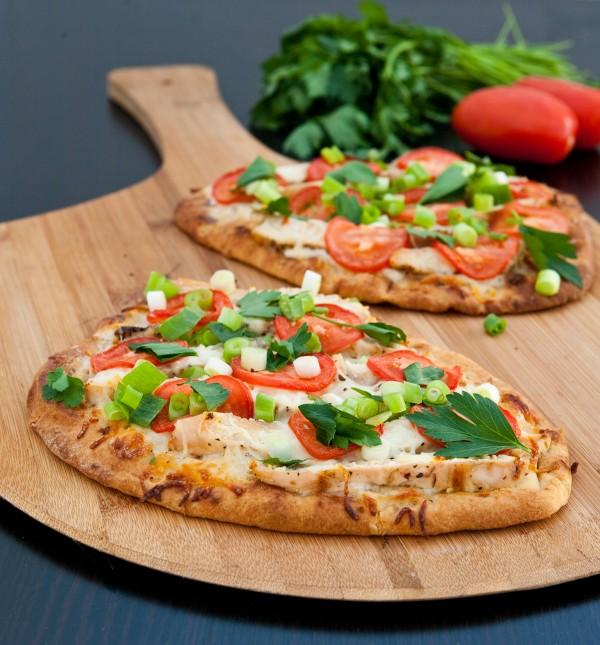 pizza no pão sírio