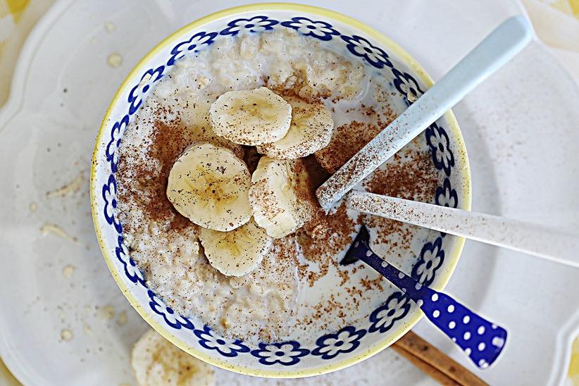 banana com aveia