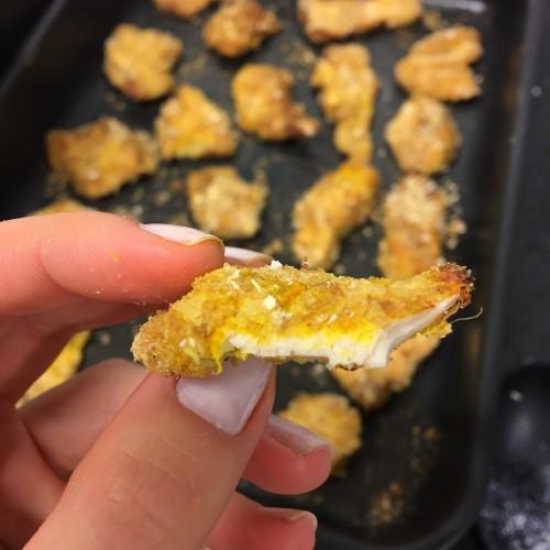 Frango empanado saudável tipo Nugget {VÍDEO}
