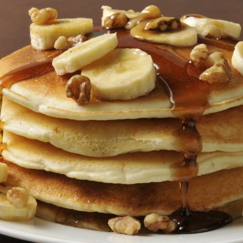 Panqueca saudável doce para o café da manhã