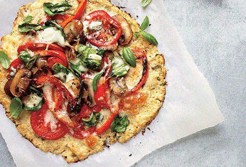 Pizza crocante de couve-flor (sem farinha!)