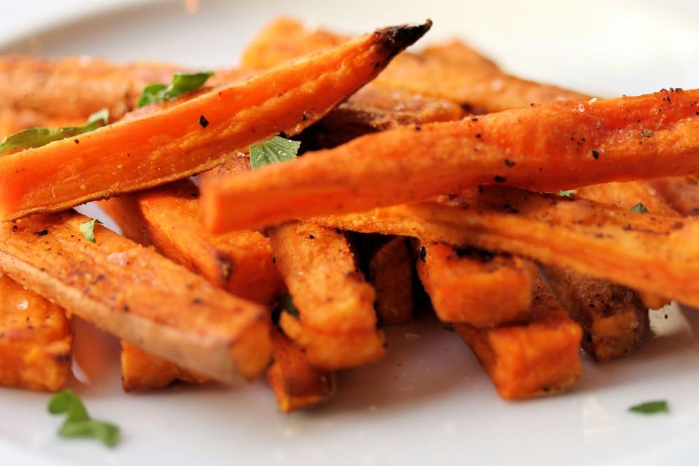 Calorias de batata doce frita