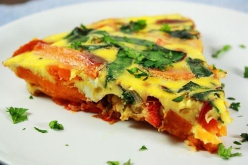 Jantar rápido: Tortilha ao forno com batata-doce