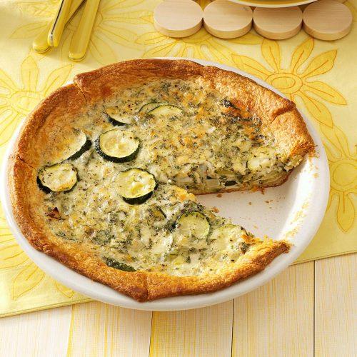 Torta Integral de Abobrinha com queijo